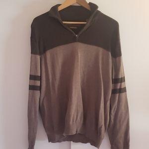 Mens Perry Ellis quarter  zip sweater size l